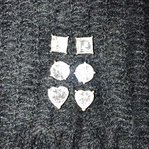 3 Pairs of Betsy Johnson Stud Earrings
